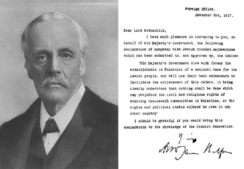 Arthur James Balfour lettera