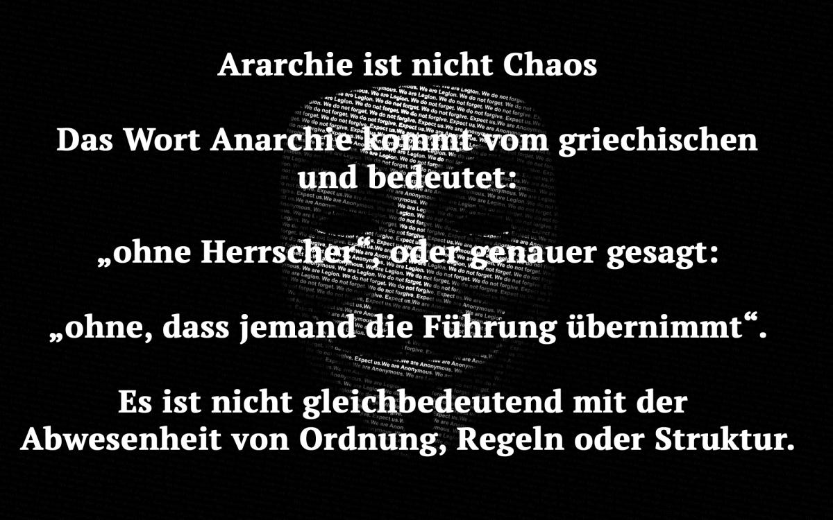 Kein Herr, keine Herrscher. Kurze Geschichte der#Anarchie