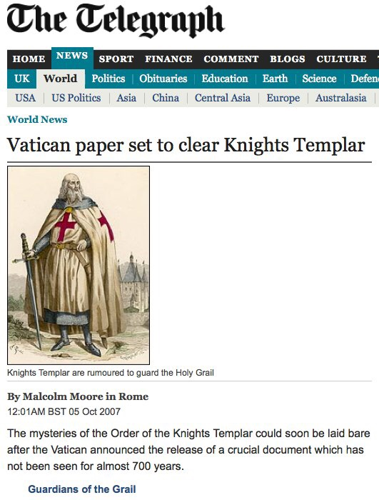 Another History of the Knights Templar: Conclusion